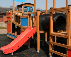 Playground Slide with Tunnel