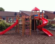Red Twister Playground Slide
