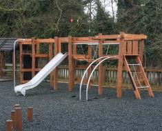 Steel Playground Slide