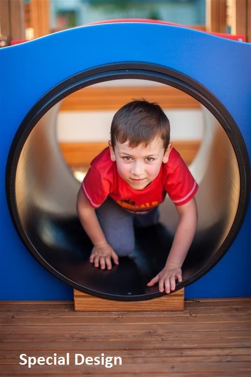 Blue Playground Tunnel